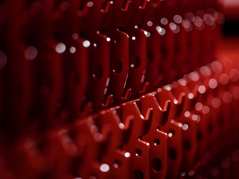 Detaljbild lagerinredning för exempelvis pallställage